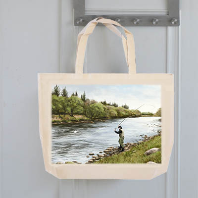 Highland Collection - Tote Bag (Fly Fishing) Personalised Gift