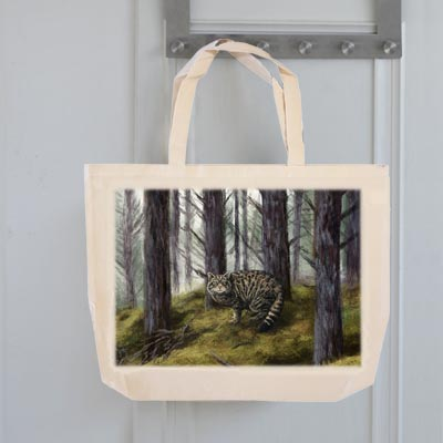 Highland Collection - Tote Bag (Wild Cat) Personalised Gift