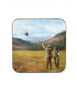 Square Coaster (Clay Shooting) Personalised Gift