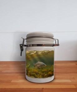 Storage Jar Container (Mirror Carp) Personalised Gift