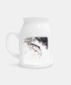Country Images Personalised Highland Collection Printed Custom Milk Jug Salmon Fishing Wildlife Scotland