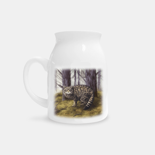 Country Images Personalised Highland Collection Printed Custom Milk Jug Wildcat Wild Cat Wildlife Scotland