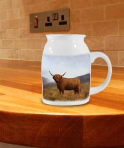 Highland Collection - Milk Jug (Highland Cow) Personalised Gift