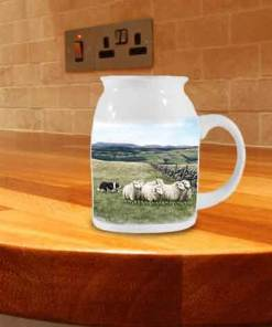 Highland Collection - Milk Jug (Sheep and Sheepdog) Personalised Gift