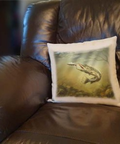 Linen Style Printed Cushion (Pike) Personalised Gift