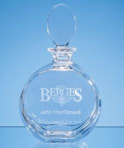 Personalised Engraved Modern Round Decanter Lead Crystal Scotland UK Custom Customised Gift Gifts Whisky Whiskey Scottish
