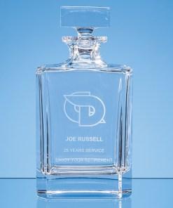 Personalised Engraved Modern Decanter Lead Crystal Scotland UK Custom Customised Gift Gifts Whisky Whiskey Scottish