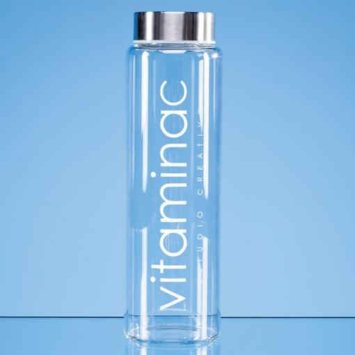Personalised Engraved 1 Litre Screw Top Bottle Glass Crystal Scotland UK Custom Customised