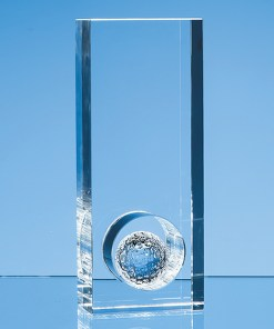 Personalised Engraved Golf Award Sports Club Presentation Glass Scotland UK Customised Optical Crystal