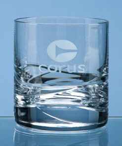 Personalised Engraved Wave Whisky Tumbler Glass Crystal Scotland UK