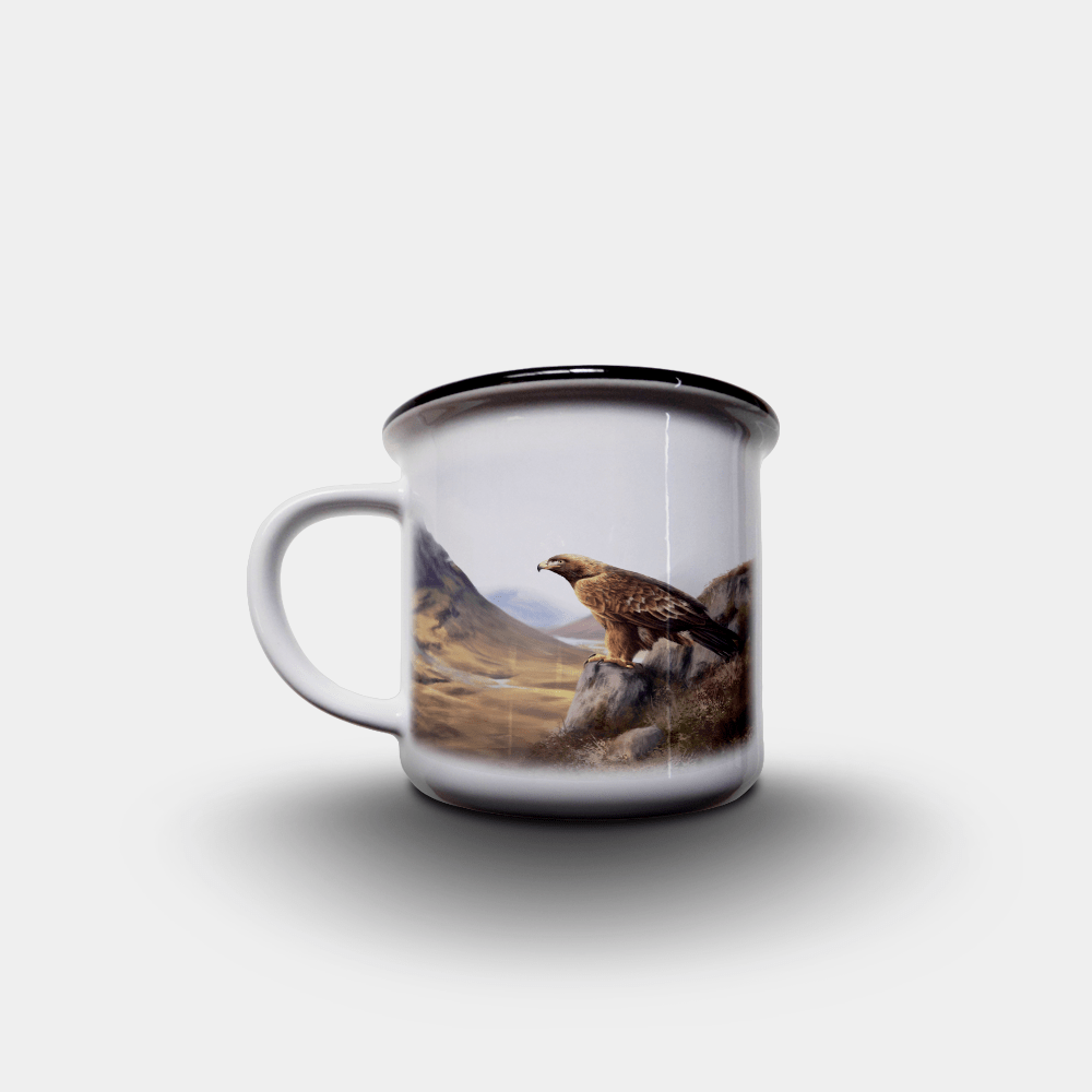 Country Images Personalised Custom Printed White Black Mug Scotland Cheap Highland Collection Golden Eagle Bird Birds of Prey Wildlife Gift Gifts 2