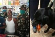 दरभंगा /बिना लाइसेंस के चल रही दवा दुकान से शराब बरामद, आरोपी पिता-पुत्र गिरफ्तार