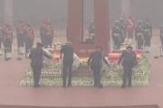 दिल्ली डेस्क /नेशनल वॉर मेमोरियल पर देश के चारों सेनाअध्यक्ष ने विपिन रावत के नेतृत्व मे दी श्रद्धांजलि