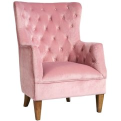 Velvet Armchair Pink Fan Back Chair Lotus Pale Country Interiors