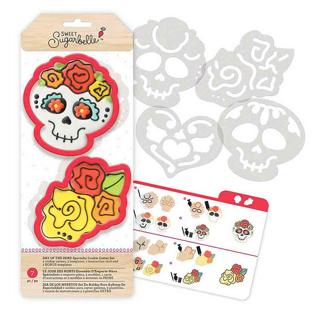 Day of the Dead Cookie Cutter Stencil Set by Sweet