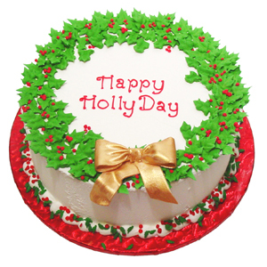 Happy Holidays Holly Cake Country Kitchen SweetArt Cake