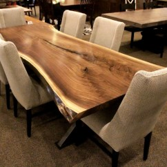 Storage Solutions For Toys In Living Room Home Decoration Pictures Walnut Live Edge Slab Table Set | Solid Hardwood Furniture ...