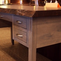 Pewter Kitchen Table And Chairs Grey Nursery Chair Walnut Live Edge Writing Desk - Country Lane Furniture