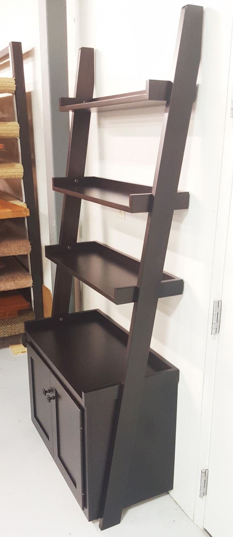 solid wood toy kitchen make your own island ladder shelf wall with storage | amish made ...