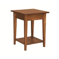 Shaker Small End Table With Shelf | Amish Shaker Small End ...