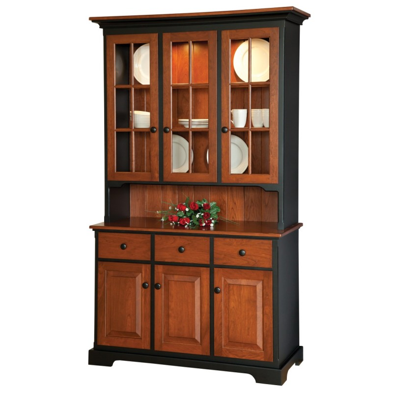 Shaker Small 3 Door Hutch  Country Lane Furniture