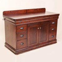 Double Pedestal Sewing Cabinet | Solid Wood and Amish ...