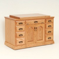 Double Pedestal Sewing Cabinet   Solid Wood and Amish ...
