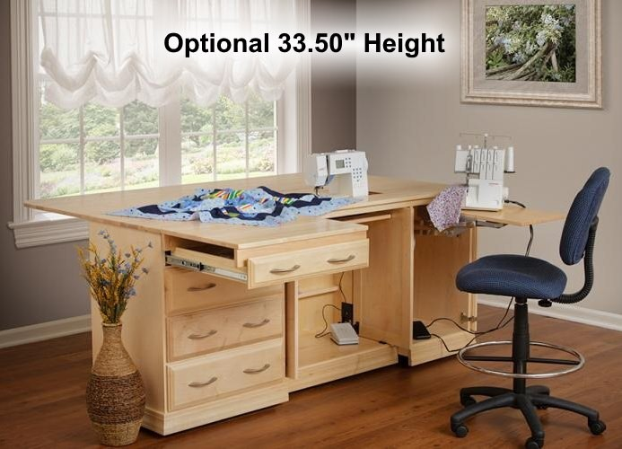 heavy duty kitchen chairs affordable remodel sewing centers & cabinets | amish mennonite made solid ...