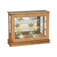 Small Console Curio with Sliding Door - Country Lane Furniture