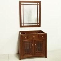 Custom QSWO Bathroom Vanity & Mirror   Custom Furniture PA ...