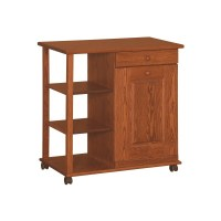 Kitchen Cart With Trash Can | Amish Kitchen Cart With ...