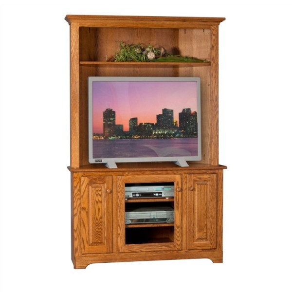Corner TV Stand with Hutch