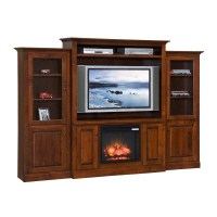 Entertainment Center w/Fireplace & Side Towers - Country ...