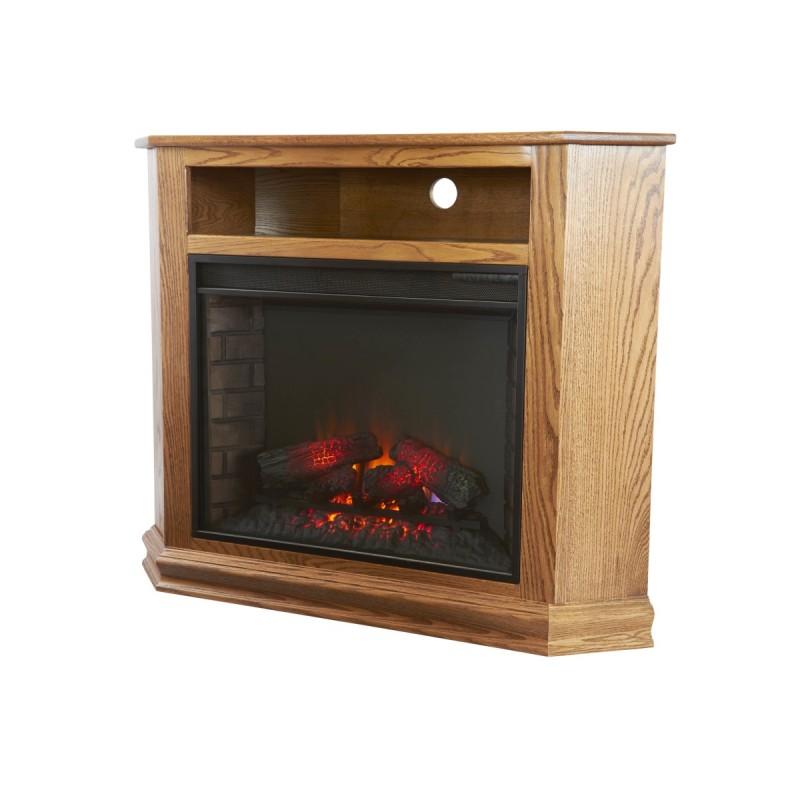 Corner TV Stand w/Fireplace