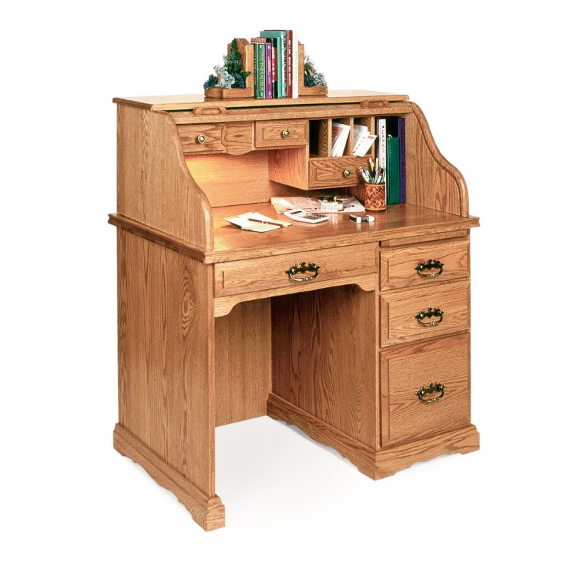 Small 40 Roll Top Desk  Amish made Small 40 Roll Top