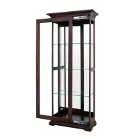Monroe Small Sliding Door Curio | Amish Curio Cabinet ...