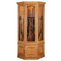 Black Forest 14 Gun Corner Cabinet | Amish Made Corner Gun ...