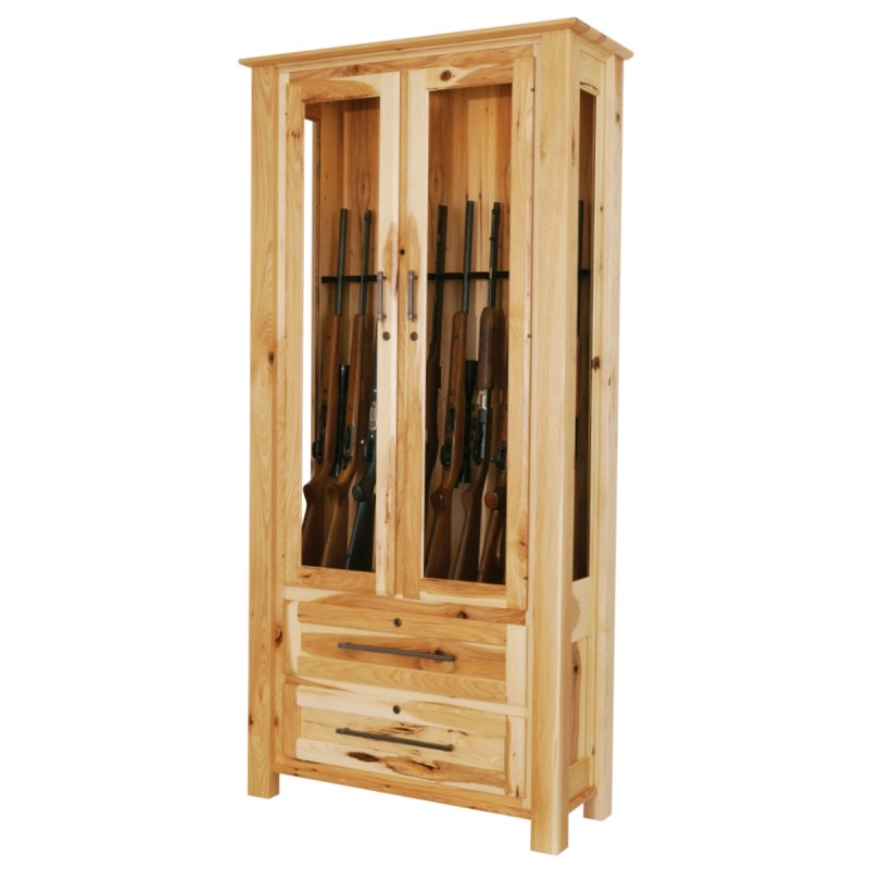 Dakota 10 Gun Cabinet  Amish Gun Cabinet  Country Lane