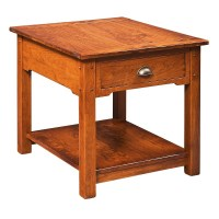 Country Lodge End Table | Rustic Cherry End Table | Amish ...