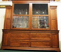 Custom Cherry Gun Cabinet | 46 Gun Cabinet | Huge Gun ...