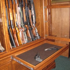 Cherry Furniture Living Room What Type Of Tile Is Best For Custom Gun Cabinet | 46 Huge ...