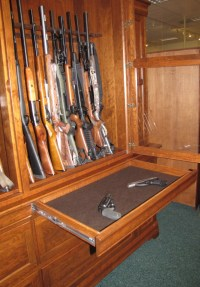 Custom Cherry Gun Cabinet