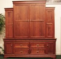 Custom Cherry Gun Cabinet | Amish Made Gun Cabinet ...