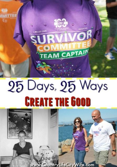 25 Days 25 Ways Create the Good