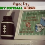 It's Game Day! Score with this DIY football bathroom décor!