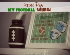 football bathroom décor