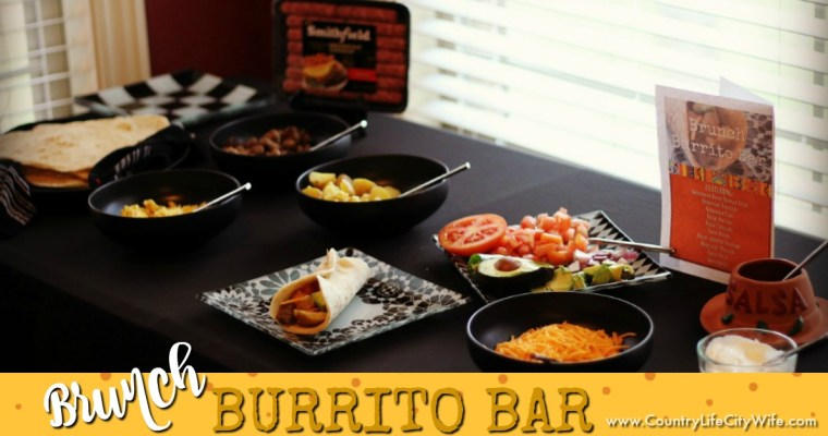 Easy Burrito Brunch Bar – with Homemade Tortillas