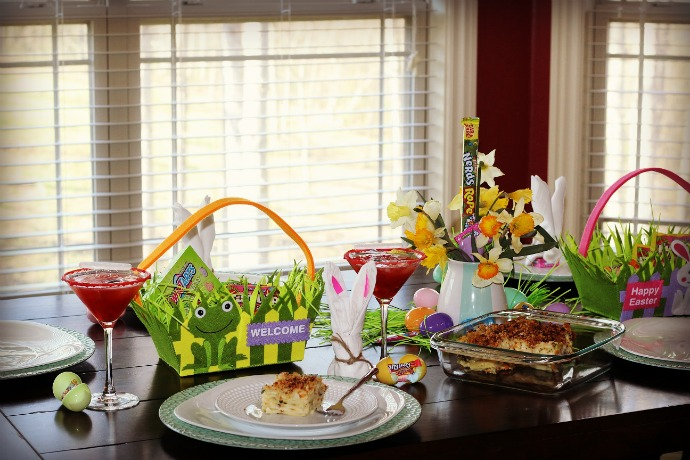 easter spring tablescape