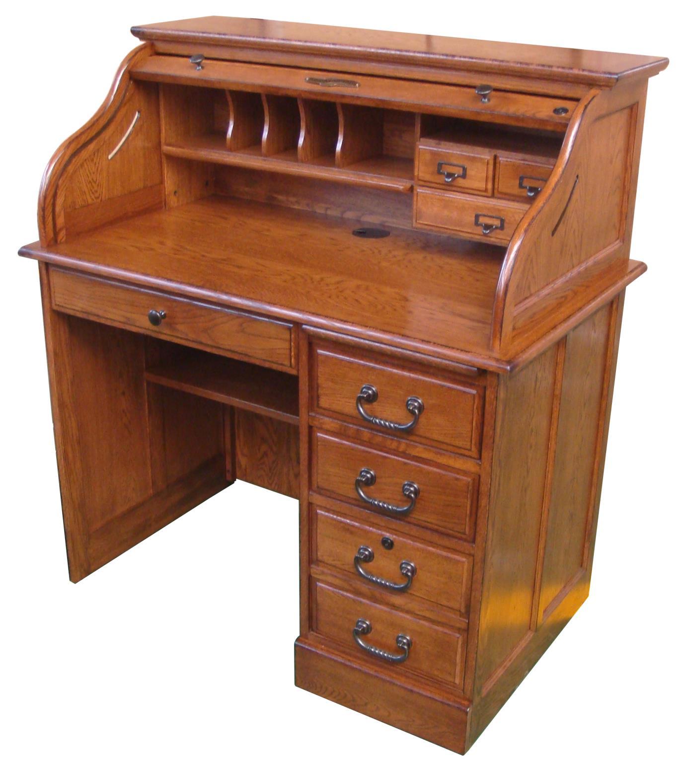 Furniture  Home Office  Solid Wood Roll Top Desks