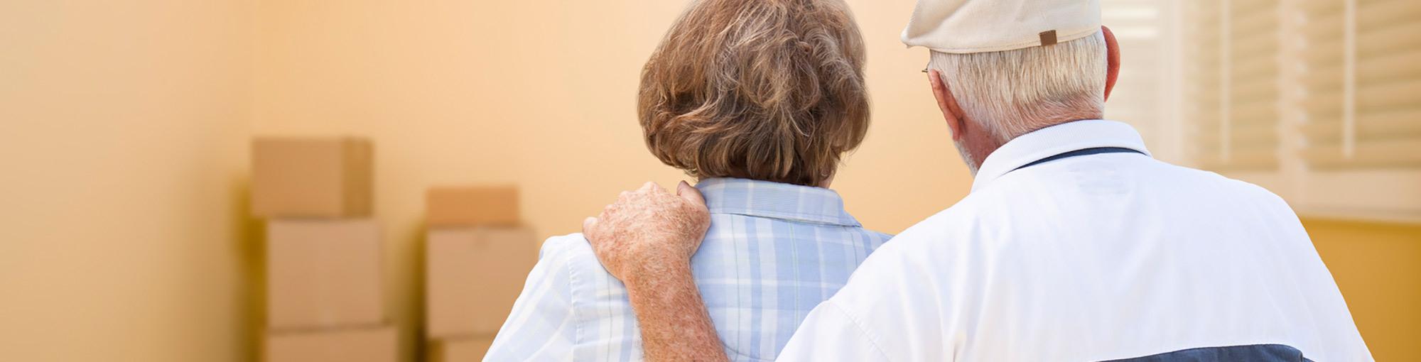 Senior Couple Moving to Retirement Community